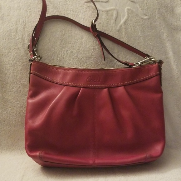 Coach Handbags - Coach Ashley Pleated Leather Shoulder Bag